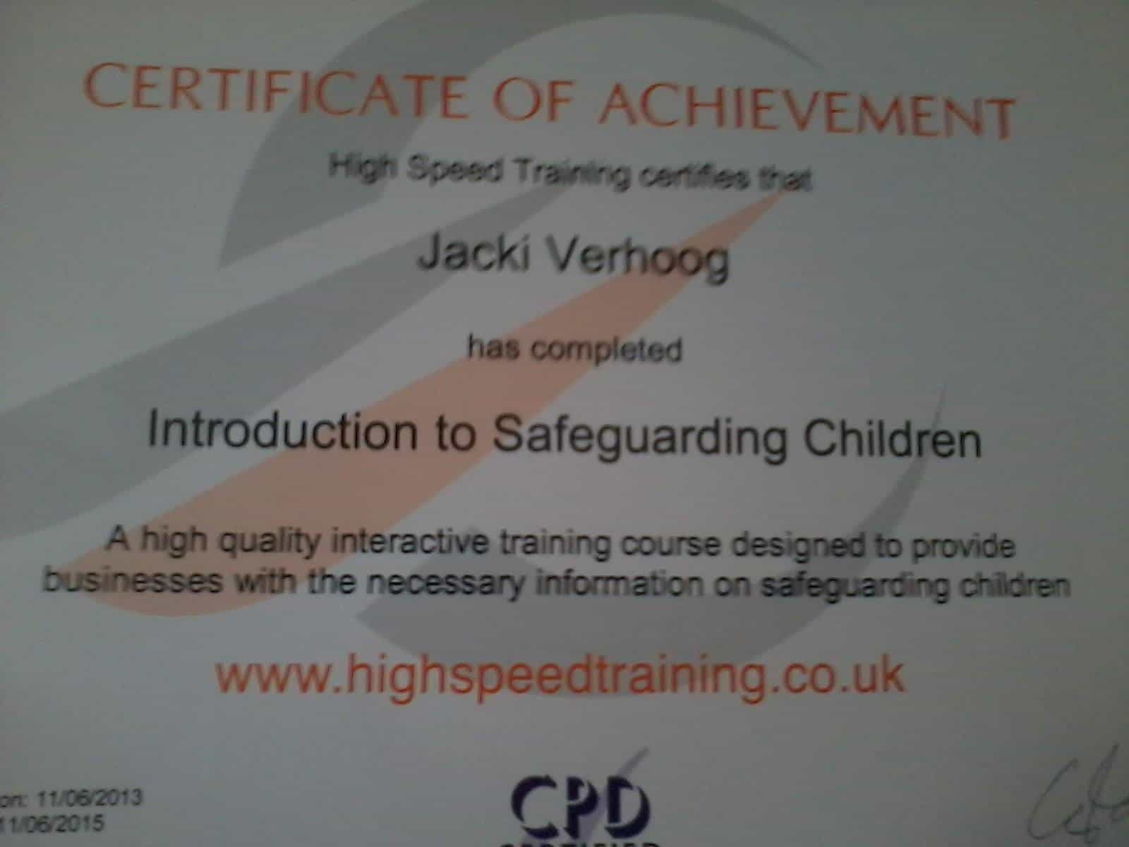 Childminding Hight Speed training introduction to safeguarding children northern ireland